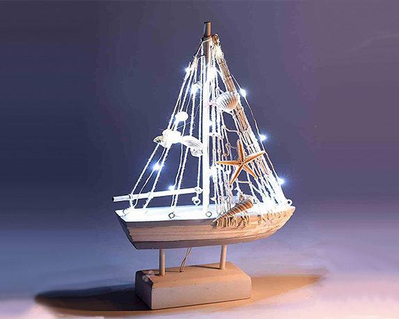 Barca a Vela Decorativa con Luci 5 1