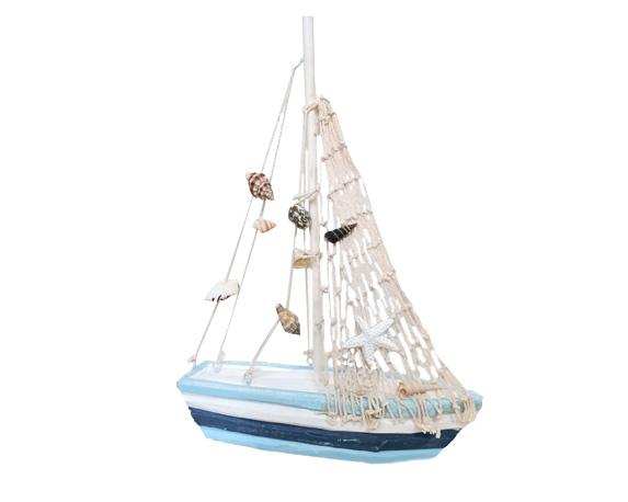 Barca A Vela 18cm Legno