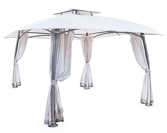 GAZEBO PANTHEON C/ZANZARIERE 3X3M METALLO