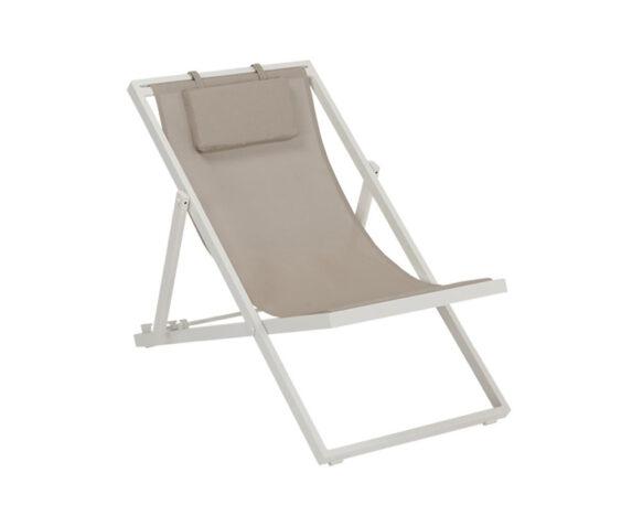 Sdraio New Relax Alluminio Bianco Textilene Khaki