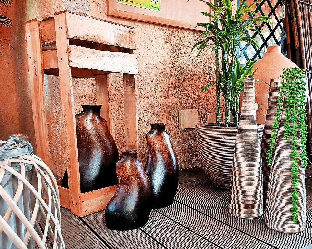 anfora jarron curvo small terracotta h25 vasie e coprivaso anfore vasi.esposizione