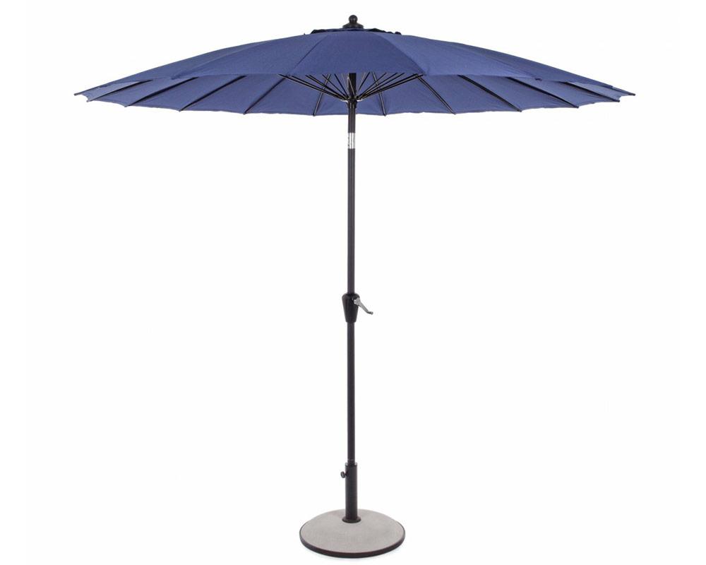 bizzotto ombrellone atlanta tondo o27mt arredo giardino ombrelloni alluminio blu 1 1