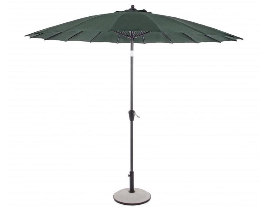 bizzotto ombrellone atlanta tondo o27mt arredo giardino ombrelloni alluminio verde 1