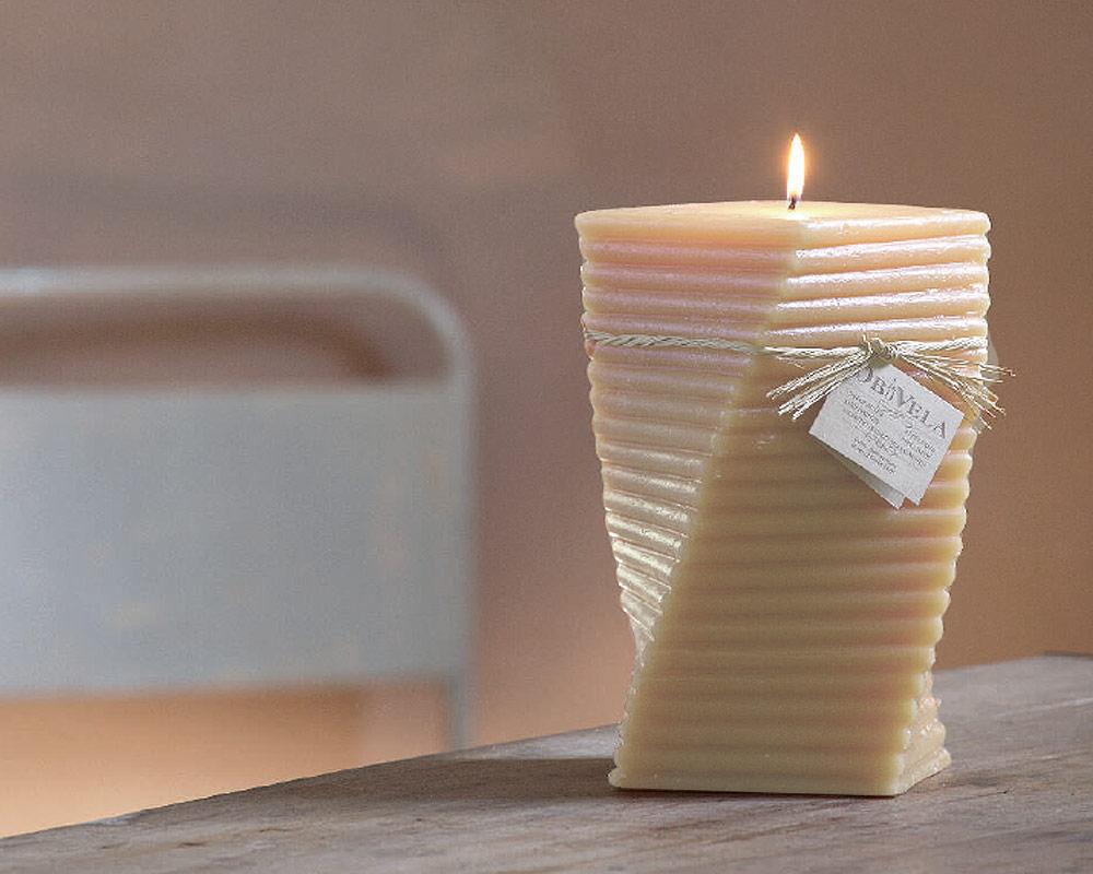 candela fisarmonica avorio candele casa e decor decorazioni naturale corino bruna small.ambiente