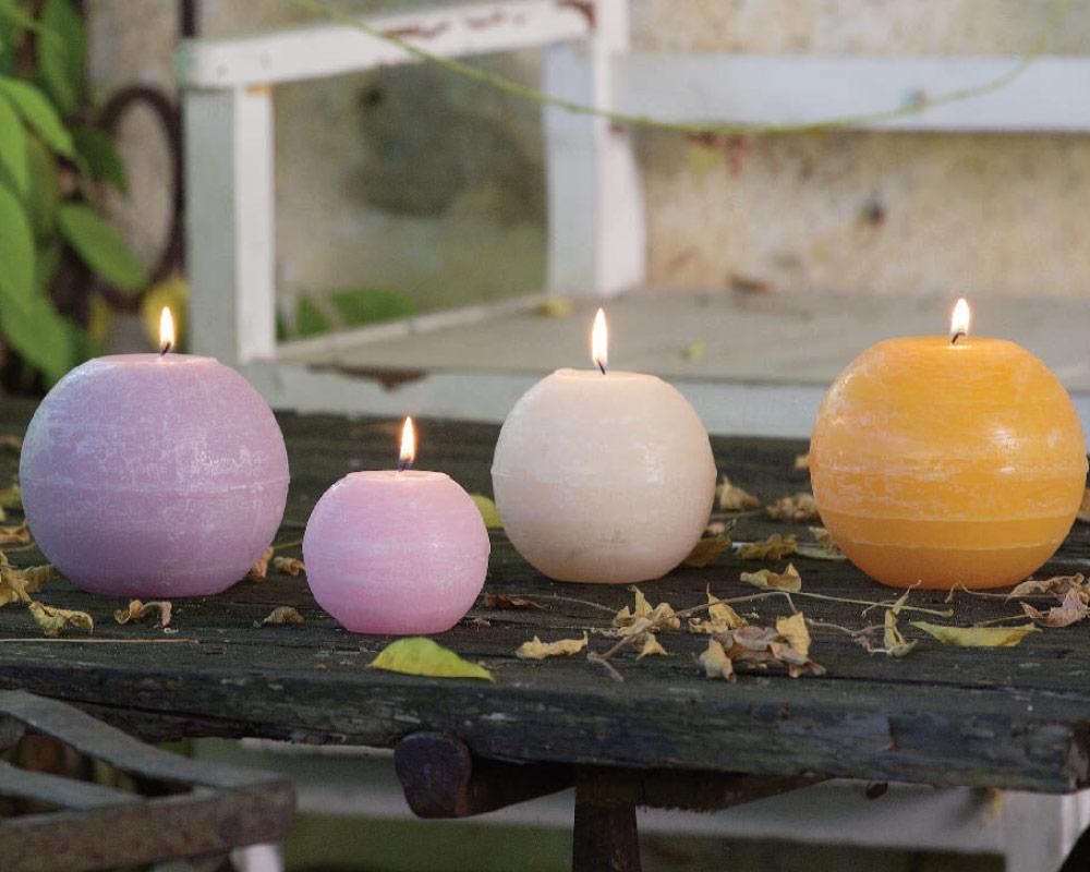 candela tonda candele casa e decor decorazioni corino bruna.AMBIENTE