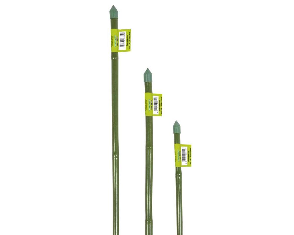 canna in bamboo plastificata verde diametro 8 10 90 h attrezzi da giardino tutori giardinaggio 1