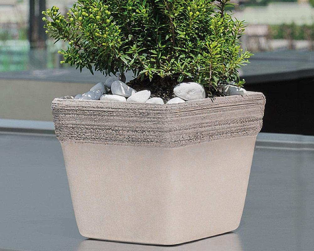 cassetta venezia graffiata terracotta vulcanica corino bruna vasi e coprivaso giardinaggio vulcano