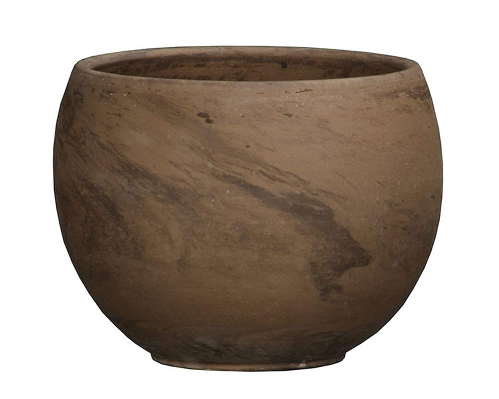ciotola luna basalto 32cm corino bruna vasi e coprivaso giardinaggio