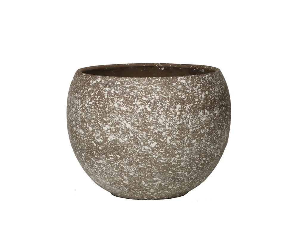ciotola luna flake basalto 12cm corino bruna vasi e coprivaso giardinaggio