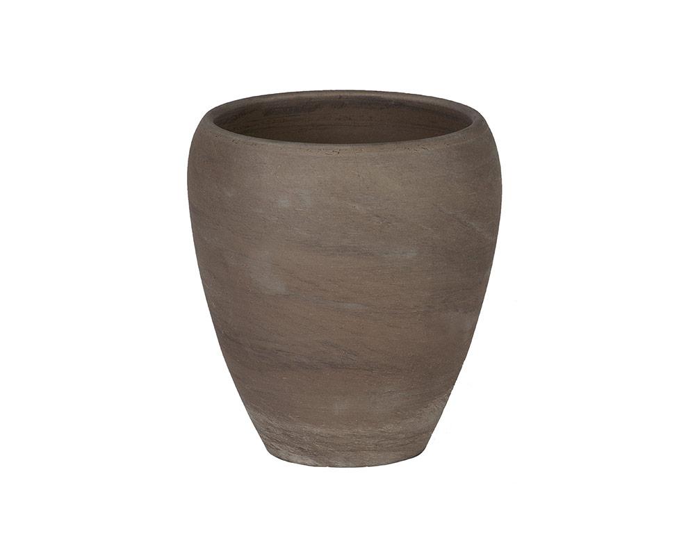 ciotola luna orchid basalto 13cm corino bruna vasi e coprivaso giardinaggio