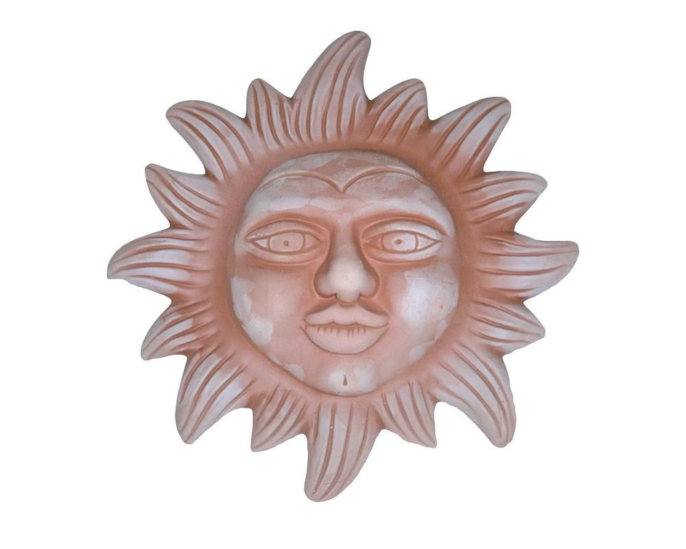 figura in terracotta sole grande corino bruna decorativi giaridno arredo decorazioni