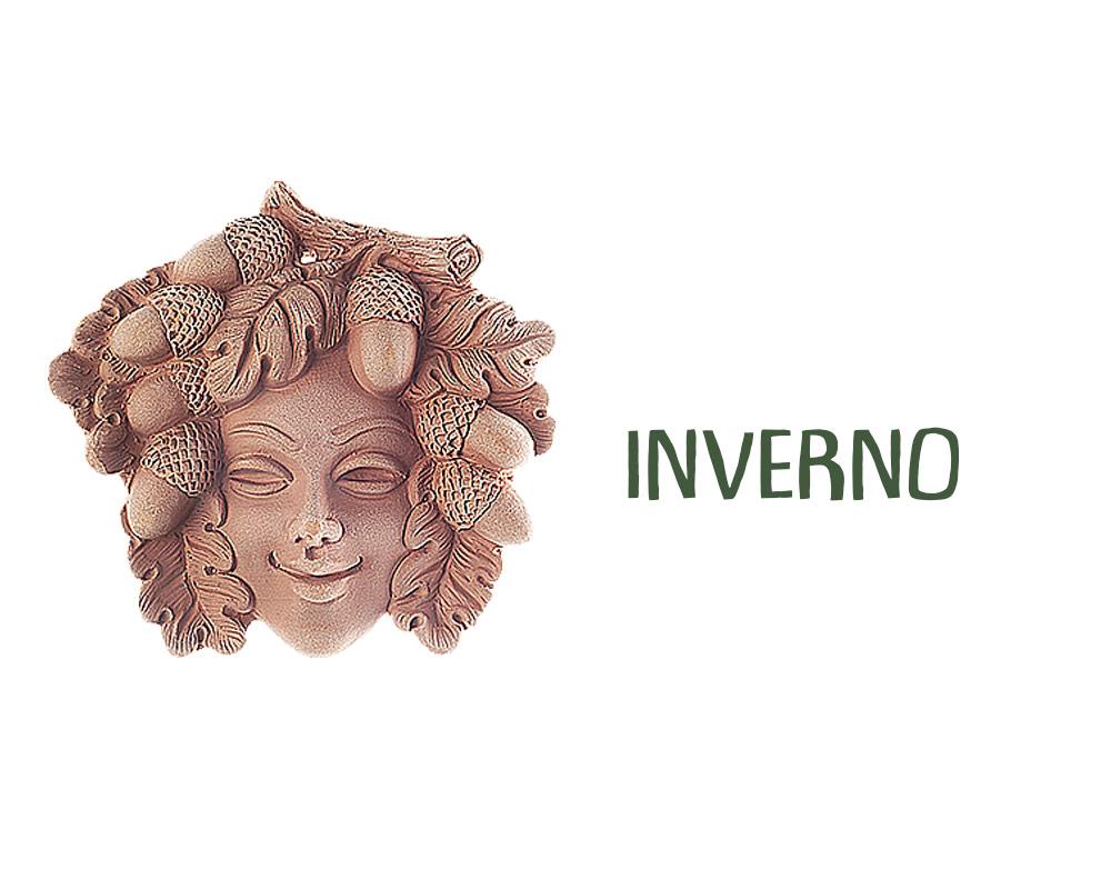 figura in terracotta stagioni INVERNO corino bruna decorativi giaridno arredo decorazioni
