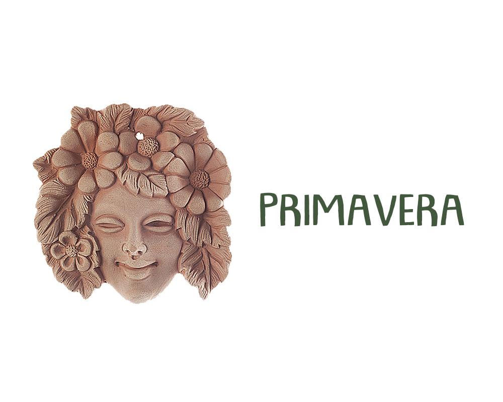 figura in terracotta stagioni PRIMAVERA corino bruna decorativi giaridno arredo decorazioni