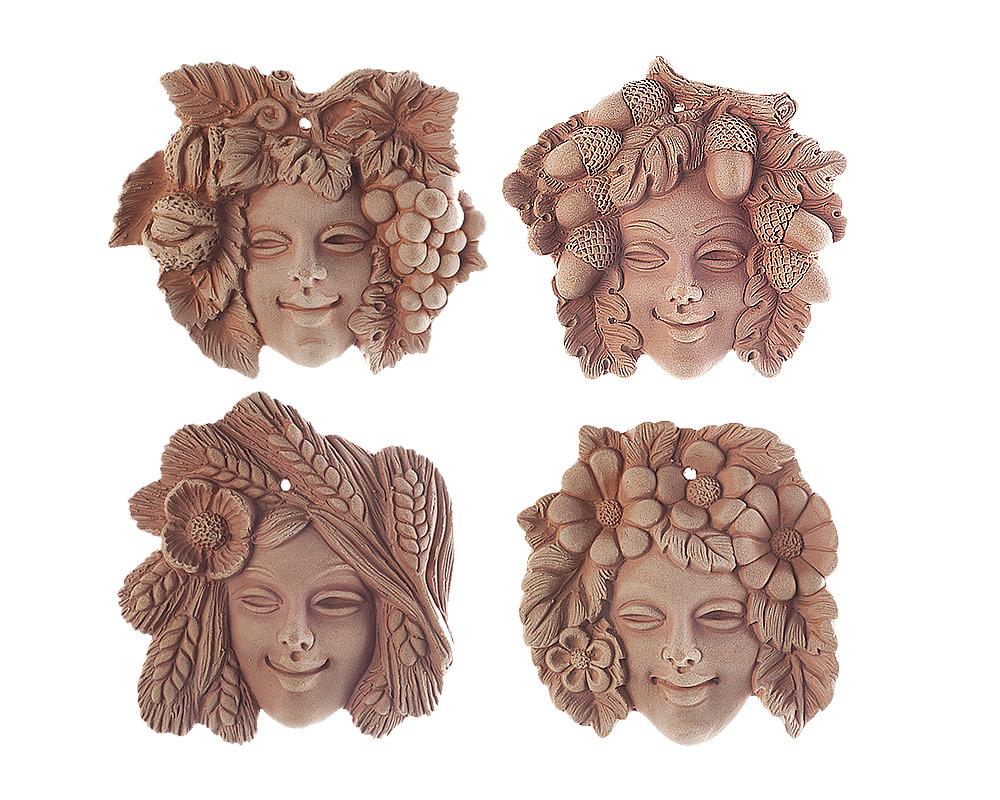 figura in terracotta stagioni corino bruna decorativi giaridno arredo decorazioni