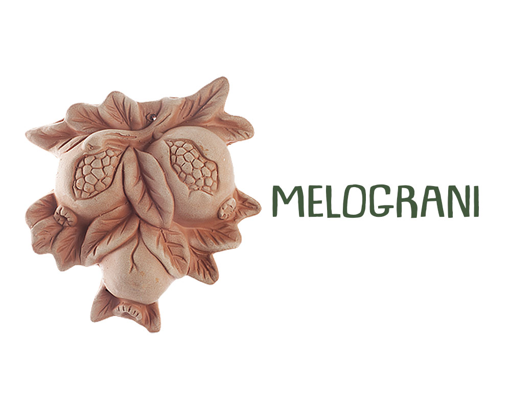 fiugure in terracotta frtutta e verdura corino bruna decorativi giaridno arredo decorazioni