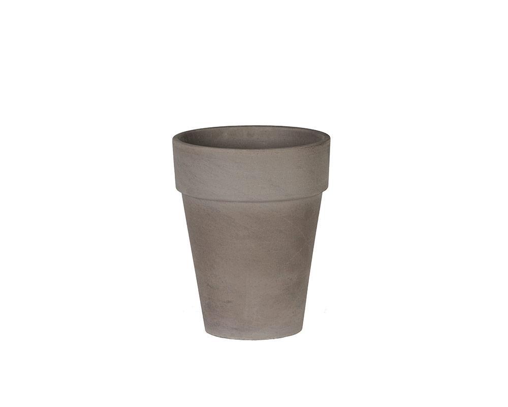flowerpot xl terracotta di basalto 17cm corino bruna vasi e coprivaso giardinaggio