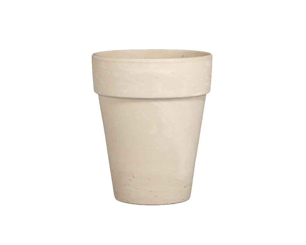 flowerpot xl terracotta di granito 32cm corino bruna vasi e coprivaso giardinaggio