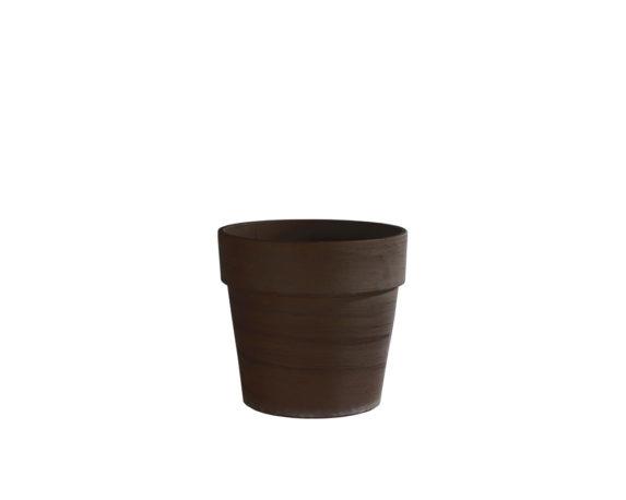minivaso standard terracotta di basalto 24cm corino bruna vasi e coprivaso giardinaggio
