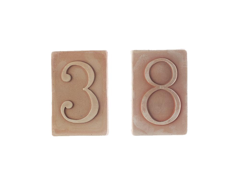 numeri civici in terracotta corino bruna decorativi giaridno arredo decorazioni