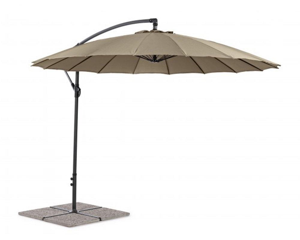 ombrellone a braccio herman bizzotto 3x3 ombrelloni arredo giardino alluminio pvc 1