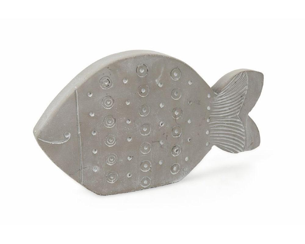 pesce decorativo in terracotta c rilievi decorazioni grigio villa deste galileo 1