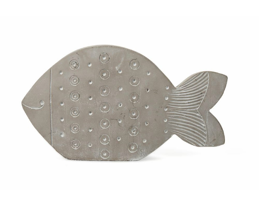 pesce decorativo in terracotta c rilievi decorazioni grigio villa deste galileo 1.jpg2 1