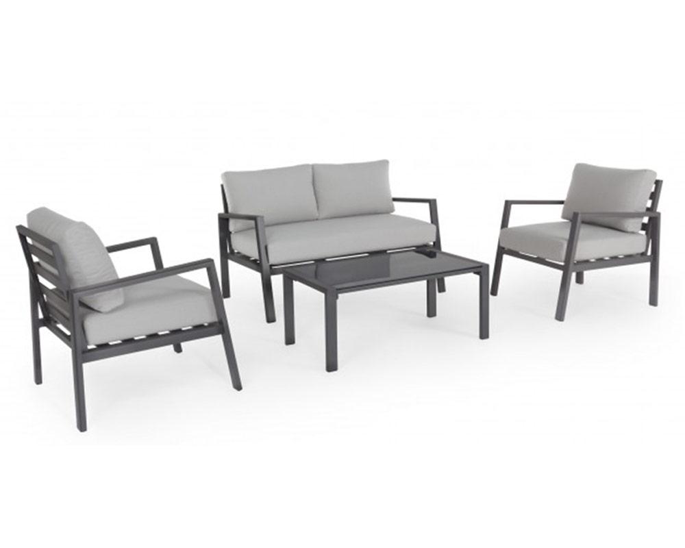 salotto koral c c alluminio textilene bizzotto antracite set4 arredo giardino comodi salotti 1 1 1