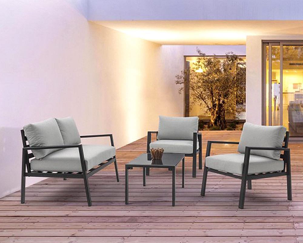 salotto koral c c alluminio textilene bizzotto antracite set4 arredo giardino comodi salotti 2 1