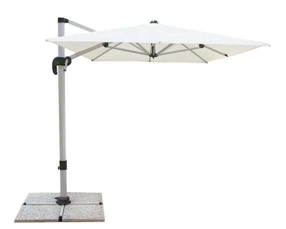 Ombrellone Sanremo 3x3m Bianco/grigio Alluminio