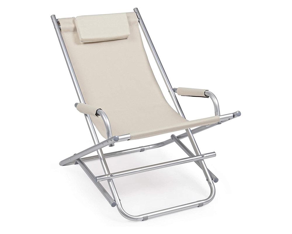 sdraio ocean tortora bilanciere alluminio textilene bizzotto arredo giaridno complementi relax outdoor 1