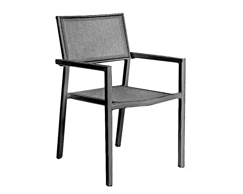 sedia Kristine bizzotto sedie e tavoli arredo giardino alluminio textilene 2 1