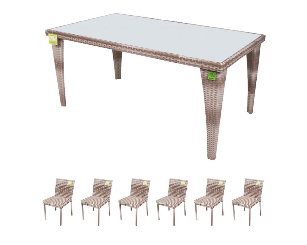 set tavolo easy enrico coveri tavoli e sedie set pranzo ecorattan vetro 6 sedie c c 1