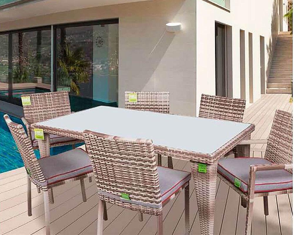 set tavolo easy enrico coveri tavoli e sedie set pranzo ecorattan vetro 6 sedie c c giardino ambiente 1