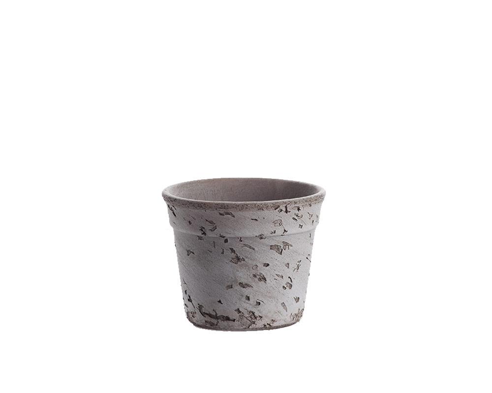 vaso Etruria fascia eaf cm 15 corino bruna vasi e coprivaso giardinaggio graffiato