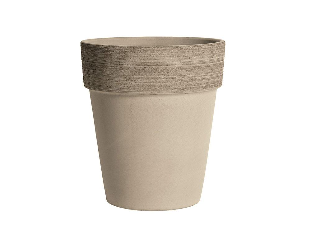 vaso alto graffiata terracotta vulcanica corino bruna vasi e coprivaso giardinaggio 19 CM