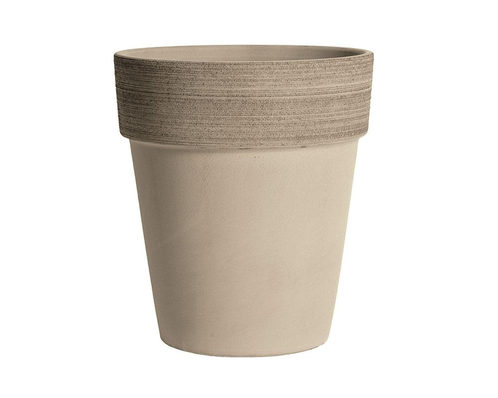 vaso alto graffiata terracotta vulcanica corino bruna vasi e coprivaso giardinaggio 35CM