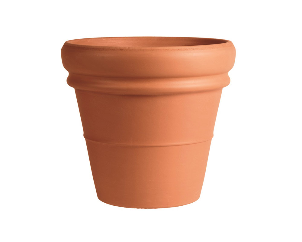 vaso doppiobordo terracotta classica 35cm corino bruna degrea vasi e coprivaso giardinaggio