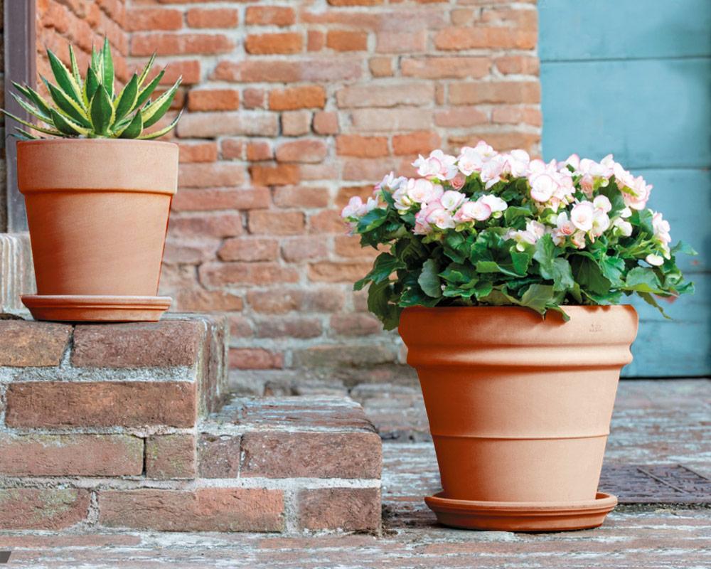 vaso doppiobordo terracotta classica 50cm corino bruna degrea vasi e coprivaso giardinaggio ambiente
