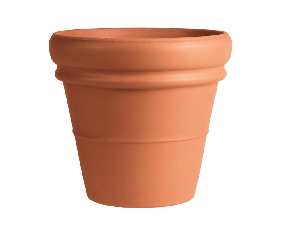 vaso doppiobordo terracotta classica 50cm corino bruna degrea vasi e coprivaso giardinaggio