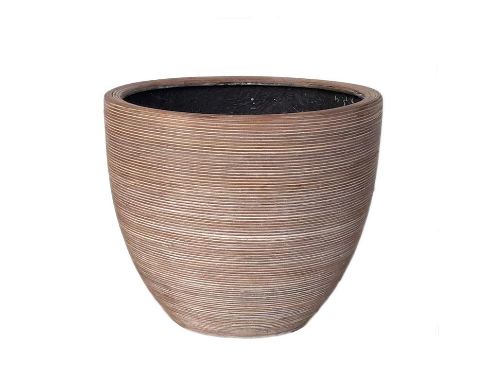 vaso midollino in basallto marrone 51cm corino bruna vasi e coprivaso giardinaggio