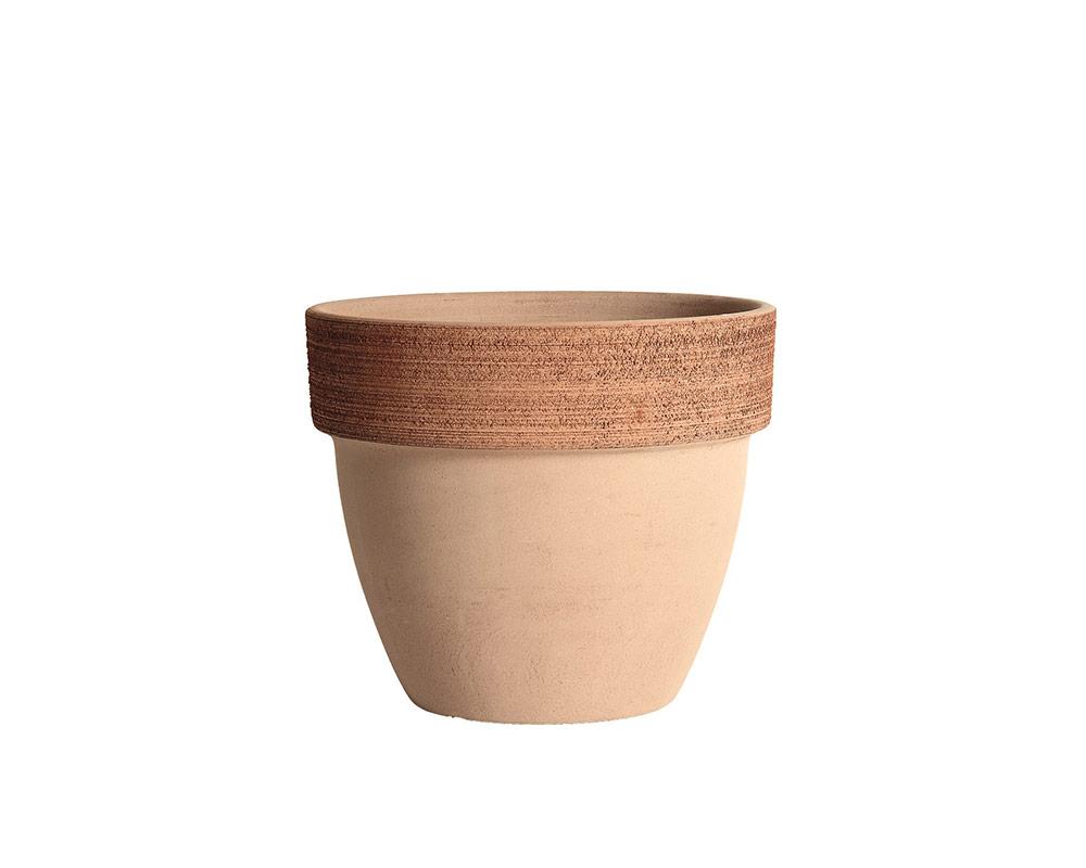 vaso palladio graffiato terracotta corino bruna vasi e coprivaso giardinaggio 25 CM
