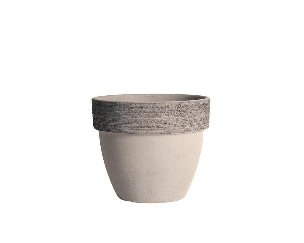vaso palladio graffiato terracotta vulcano corino bruna vasi e coprivaso giardinaggio 14 CM