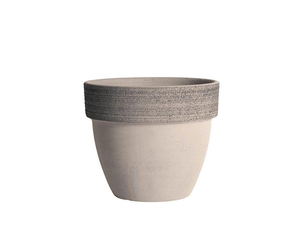 vaso palladio graffiato terracotta vulcano corino bruna vasi e coprivaso giardinaggio 30 CM