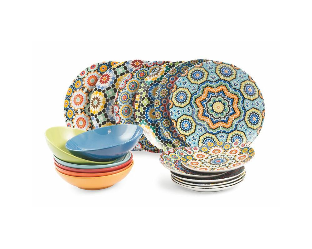 Servizio piatti 18 pz marrakech complementi tavola villa deste galileo