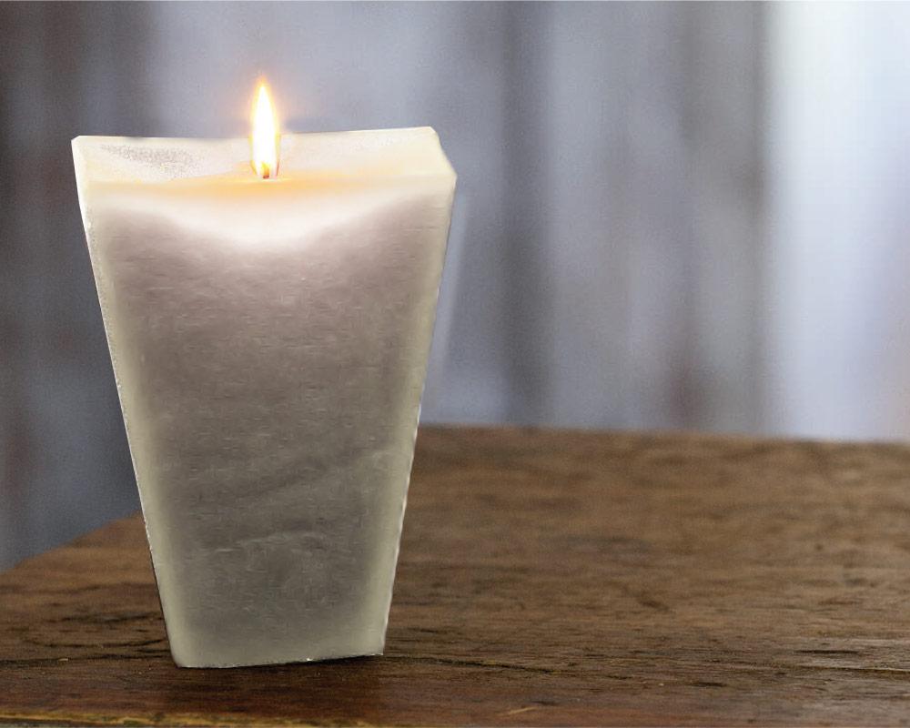 candela squadrata candele casa e decor decorazioni corino bruna.ambiente