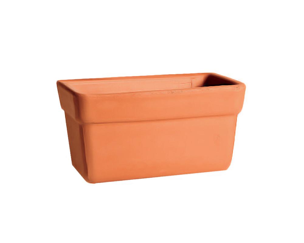 cassetta Venezia cm 40 vasi e ecorpivaso corino bruna terracotta classica