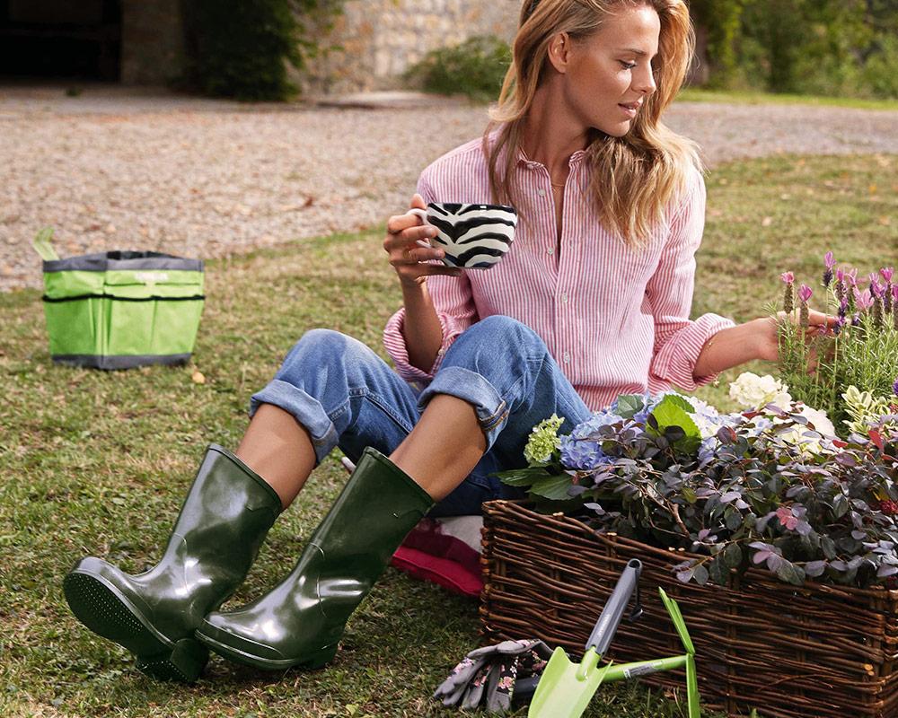stivali al ginocchio 44 gomma vestiario scarpe verdemax giardinaggio.ambiente