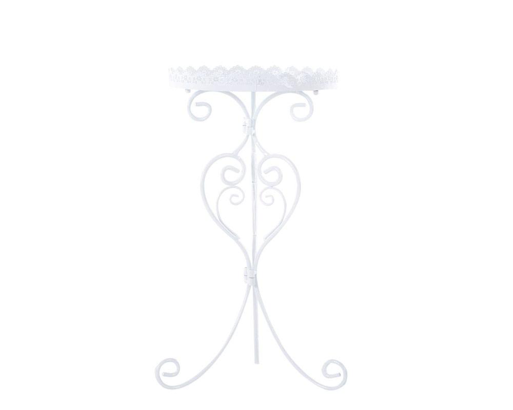 tavolino bianco tondo arredo giardino vacchetti