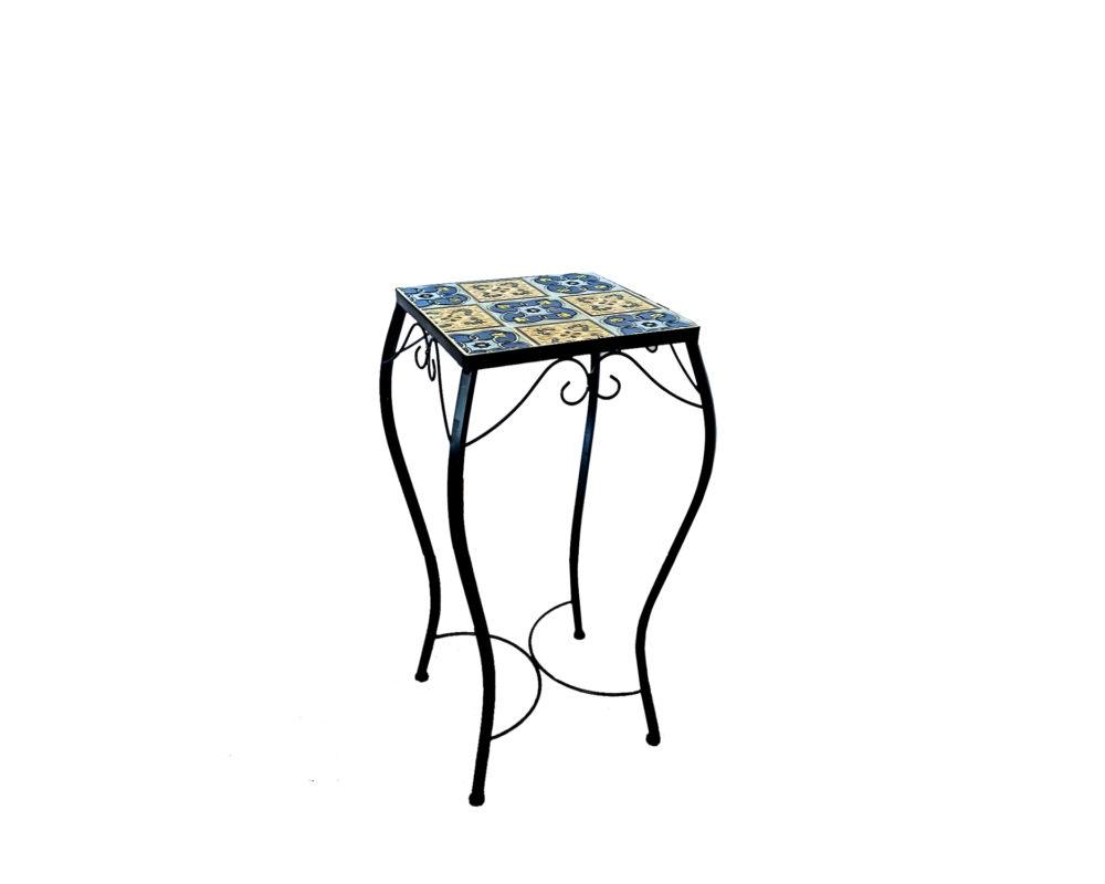 trittico alzata piante maiolica mix blu garden team medium