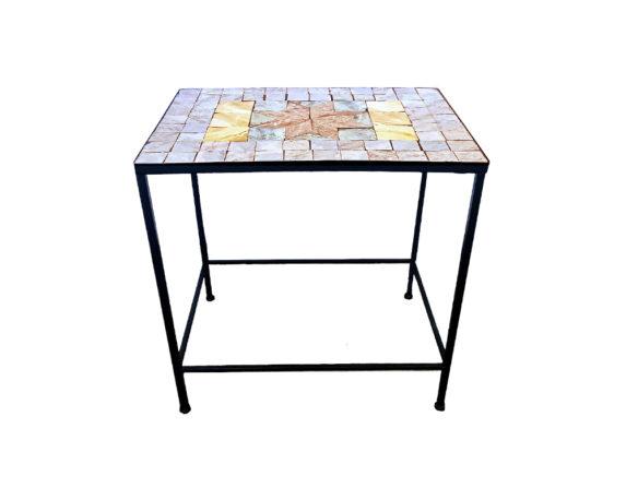 Tavolino Porta Piante Maioliche Stella Large